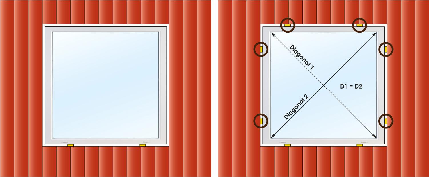 mät fönstrets diagonaler